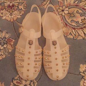 df29ff8d5 Gucci Shoes - Gucci Rubber Buckle strap sandal